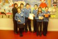 National Junior Dragon Den 2012 participants with their teacher Ms Mulhall.