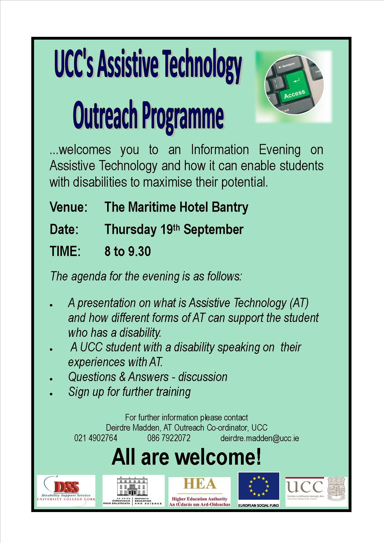 Poster for information evening Bantry Sept 2013