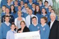 Student Council presentation of money raised for Crumlin Children's Hospital and Co Action 2013